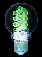 X-ray of an energy efficient light bulb.