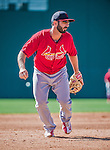 9 March 2014: St. Louis Cardinals shortstop Daniel Descalso warms up prior to a Spring Training game against the Washington Nationals at Space Coast Stadium in Viera, Florida. The Nationals defeated the Cardinals 11-1 in Grapefruit League play. Mandatory Credit: Ed Wolfstein Photo *** RAW (NEF) Image File Available ***