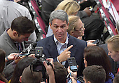 Former Attorney General Ken Cuccinelli (Republican of Virginia) is interviewed on the floor at the 2016 Republican National Convention held at the Quicken Loans Arena in Cleveland, Ohio on Monday, July 18, 2016.<br /> Credit: Ron Sachs / CNP<br /> (RESTRICTION: NO New York or New Jersey Newspapers or newspapers within a 75 mile radius of New York City)
