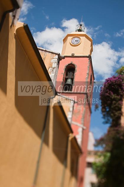 Europe/France/Provence -Alpes-Cote d'Azur/83/Var/Saint-Tropez: L'église du XVIIIesiècle de style baroque italien
