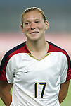 06 August 2008: Lori Chalupny (USA).  The women's Olympic team of Norway defeated the United States women's Olympic soccer team 2-0 at Qinhuangdao Olympic Center Stadium in Qinhuangdao, China in a Group G round-robin match in the Women's Olympic Football competition.