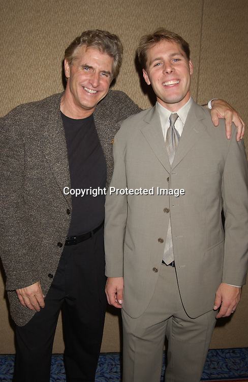 Michael Swan and Scott DeFreitas                                ..at the Ninth Annual Daytime Television Salutes St. Jude ..Children's Research Hospital benefit in New York City on ..October 10, 2003 at the Marriott Marquis Hotel. ..Photo by Robin Platzer, Twin Images