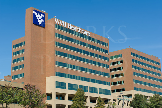West Virginia University campus, Ruby Memorial Hospital medical research facility, WVU, Morgantown, WV, USA.