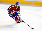 10 February 2010: Montreal Canadiens' left wing forward Mathieu Darche in action against the Washington Capitals at the Bell Centre in Montreal, Quebec, Canada. The Canadiens defeated the Capitals 6-5 in sudden death overtime, ending Washington's team-record winning streak at 14 games. Mandatory Credit: Ed Wolfstein Photo