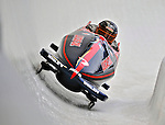 5 January 2008: NHRA 2006 Rookie of the Year J.R. Todd exits Turn 19 at the NASCAR vs NHRA Bobsled Elimination Challenge at the Olympic Sports Complex on Mount Van Hoevenberg, in Lake Placid, New York...Mandatory Photo Credit: Ed Wolfstein Photo