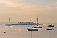 Connecticut, Greenwich, Indian Harbor, boats