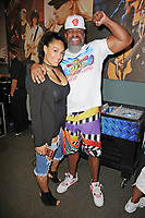 HOLLYWOOD FL - MAY 09: Two time Heavyweight World Champion Shannon Briggs and his wife Alana Briggs attend a press conference for the fight on June 3rd Briggs Vs Oquendo at Hard Rock Live held at the Seminole Hard Rock Hotel & Casino on May 9, 2017 in Hollywood, Florida. Credit: mpi04/MediaPunch