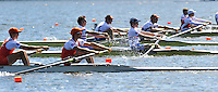 Hamilton, NEW ZEALAND.  GBR LM2-, Bow Adam FREEMAN-PASK and Chris BODDY, Lightweight Men's Pair Repechage1, 2010 World Rowing Championships on Lake Karapiro, Tuesday - 02.11.2010, [Mandatory Credit Peter Spurrier:Intersport Images].