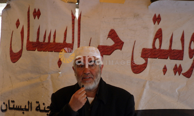 Sheikh Raed Salah, the leader of the Islamic Movement in Israel, speaks during the Friday prayers in a sit-in tent against the continuing 'Judaization of Jerusalem' by Jewish settlers, in the mostly Arab neighbourhood of Silwan in east Jerusalem on Jan. 25, 2013. Photo by Mahfouz Abu Turk