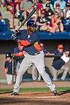 10 March 2014: Houston Astros first baseman Chris Carter in action during a Spring Training game against the Washington Nationals at Space Coast Stadium in Viera, Florida. The Astros defeated the Nationals 7-4 in Grapefruit League play. Mandatory Credit: Ed Wolfstein Photo *** RAW (NEF) Image File Available ***