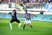 VOETBAL: HEERENVEEN: Abe Lenstra Stadion, SC Heerenveen - Vitesse, 21-01-2012, Guram Kashia (#37), Oussama Assaidi (#22), Eindstand 1-1, ©foto Martin de Jong