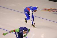 SPEEDSKATING: CALGARY: 14-11-2015, Olympic Oval, ISU World Cup, 1000m, Shani Davis (USA), ©foto Martin de Jong