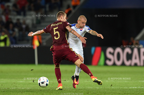 Vladimir Weiss (Slovakia) Roman Neustadter (Russia) ; <br /> June 15, 2016 - Football : Uefa Euro France 2016, Group B, Russia 1-2 Slovakia at Stade Pierre Mauroy, Lille Metropole, France. (Photo by aicfoto/AFLO)