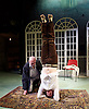 The Divided Laing <br /> by Patrick Marmion <br /> at the Arcola Theatre, London, Great Britain <br /> press photocall <br /> 17th November 2015 <br /> <br /> <br /> <br /> Alan Cox as R D Ronnie Laing <br /> Kevin McMonagle as Aaron Esterson <br /> <br /> <br /> <br /> <br /> Photograph by Elliott Franks <br /> Image licensed to Elliott Franks Photography Services