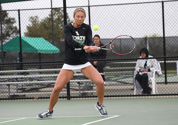 DENTON, TX - APRIL 5: Alexis Thoma at Waranch Tennis Center in Denton on April 5, 2014 in Denton, Texas. Photo by Rick Yeatts
