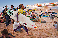 Carissa Moore (HAW).  LAGIDO, Peniche/Portugal (Thursday, October 7, 2010) -Round 1 of the Rip Curl Women's Pro Portugal was  called ON this morning, with the opening heat commencing at 10:30am at the backup site of Lagido. .Event No. 6 of 8 on the 2010 ASP Women's World Tour, the Rip Curl Women's Pro Portugal was greeted with solid surf today with event organizers opting to relocate to enjoy more favourable winds.. The Rip Curl Pro Portugal will run from October 7 through 18, 2010..Photo: joliphotos.com