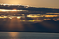 Sunset over Sleeping Lady mountain in Cook Inlet adjacent to Anchorage, Alaska, southcentral.