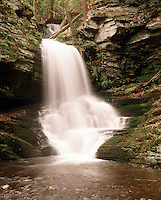 WATERFALL<br /> Demonstrating Kinetic &amp; Potential Energy<br /> A waterfall has both kinetic and potential energy. The water at the top of the waterfall has stored potential energy. Once the water leaves the top of the waterfall, the potential energy is changed into kinetic energy.