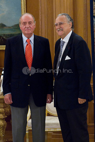 King Juan Carlos of Spain with Iñaki Azkuna Urreta, Mayor of Bilbao, at the Royal Palace of La Zarzuela. August 1, 2012. Credit: Alterphotos/Marta Gonzalez/NortePhoto/MediaPunch Inc. ***FOR USA ONLY***