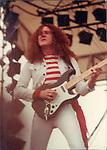 Janick Gers of Gillan Castle Donnington Monsters of Rock 1982 Donnington 1982