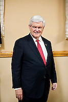 Republican presidential candidate Newt Gingrich hosts a meet and greet at Swamp Fox Restaurant on Tuesday, December 20, 2011 in Knoxville, IA.