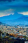 El Corzaon Volcano, Spanish Name For Heart Because Of It Shape, Extinct Stratovolcano, Modern Quito, Ecuador