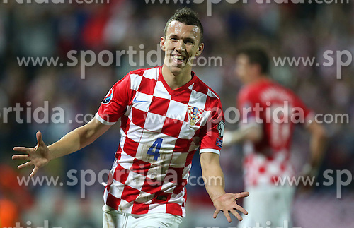 13.10.2014, Stadion Gradski vrt, Osijek, CRO, UEFA Euro Qualifikation, Kroatien vs Aserbaidschan, Gruppe H, im Bild Ivan Perisic // during the UEFA EURO 2016 Qualifier group H match between Croatia and Azerbaijan at the Stadion Gradski vrt in Osijek, Croatia on 2014/10/13. EXPA Pictures &copy; 2014, PhotoCredit: EXPA/ Pixsell/ Igor Kralj<br /> <br /> *****ATTENTION - for AUT, SLO, SUI, SWE, ITA, FRA only*****