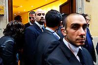 Roma  23 Aprile 2013.Si riunusce  la direzione nazionale del Partito Democratico. La  security del PD