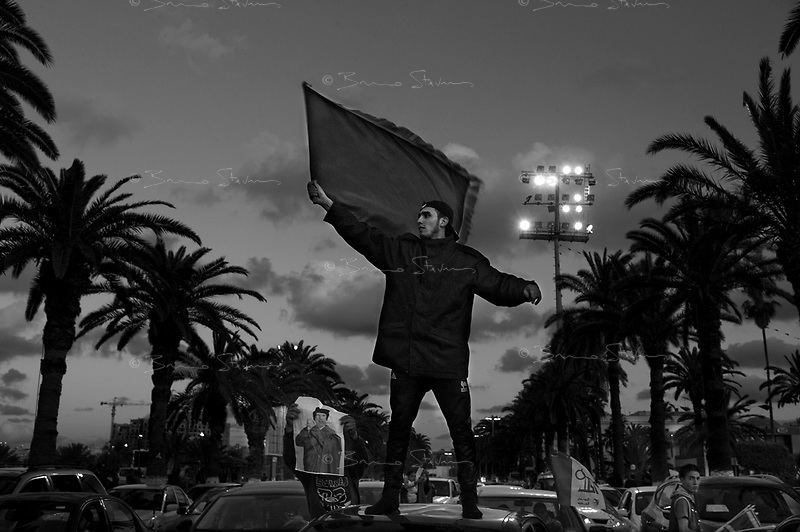 Tripoli, Libya, March 22, 2011.Population support of the Khaddafi regime, albeit very loud, seems to be thinning away by the day, as well as becoming more and more theatrical and exagerated.