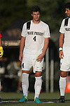 26 August 2016: Wake Forest's Kevin Politz. The Wake Forest University Demon Deacons hosted the Saint Louis University Billikens in a 2016 NCAA Division I Men's Soccer match. SLU won the game 1-0.