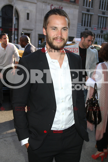 June 27, 2012 Taylor Kitsch at the special screening of Universal Pictures' Savages at the SVA Theater in New York City. &copy; RW/MediaPunch Inc /*NORTEPHOTO.COM*<br />