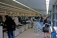 Nicholas Grimshaw: Sainsbury's, Camden Town, Interior.  Photo '90.