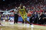 18 February 2017: Notre Dame's Temple TJ Gibbs. The North Carolina State University Wolfpack hosted the University of Notre Dame Fighting Irish at the PNC Arena in Raleigh, North Carolina in a 2016-17 Division I Men's Basketball game. Notre Dame won the game 81-72.