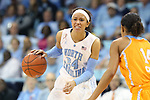 11 November 2013: North Carolina's Jessica Washington (24) and Tennessee's Andraya Carter (14). The University of North Carolina Tar Heels played the University of Tennessee Lady Vols in an NCAA Division I women's basketball game at Carmichael Arena in Chapel Hill, North Carolina. Tennessee won the game 81-65.
