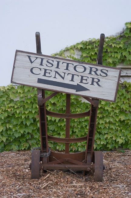 Sign at Napa Valley vineyard
