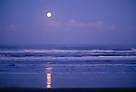 Moon over Pacific Ocean, Olympic Peninsula, Washington