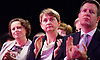 Ed Balls speech <br /> Labour Party Conference, Manchester, Great Britain <br /> 22nd September 2014 <br /> <br /> Ed Balls MP <br /> Shadow Chancellor<br /> Stability &amp; Prosperity debate<br /> <br />  Yvette Cooper watching / clapping <br /> <br /> Photograph by Elliott Franks <br /> Image licensed to Elliott Franks Photography Services