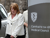 14/10/11 Lucia Dowd at an inquiry into alleged professional misconduct over care he provided by Dr Laszio at the Have Cosmetic Surgery in Stillorgan, at the medical council in Dublin. Pictures:Arthur Carron/Collins
