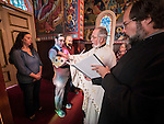 Baptism of Marin Yosef, St. Sava Church, Dec. 15, 2013