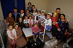 Friedland refugee camp West Germany. 1980's  Soviet-Germans return as refugees from the Soviet Union to freedom. Circa 1985. This extended family have just arrived in the camp.  The photographs shows grandmother, children, wives, husbands and grandchildren.