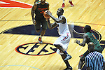 "Ole Miss' Murphy Holloway (31) vs. Miami at the C.M. ""Tad"" Smith Coliseum in Oxford, Miss. on Friday, November 25, 2011. Ole Miss won 64-61 in overtime."