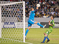 CARSON, CA - November 11, 2012: LA Galaxy goalie Josh Saunders (12) during the LA Galaxy vs the Seattle Sounders at the Home Depot Center in Carson, California. Final score LA Galaxy 3, Seattle Sounders 0.