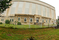 Washington D.C. - October 1, 2016: The Buzzards Point power plant built in 1932. Buzzards Point area in Southwest Washington D.C. cleared for construction of the new soccer stadium for D.C. United scheduled to open in 2018.