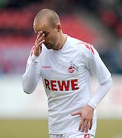 FUSSBALL   1. BUNDESLIGA  SAISON 2011/2012   22. Spieltag 1 FC Nuernberg - 1. FC Koeln       18.02.2012 Miso Brecko (1. FC Koeln)