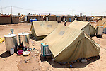 DOMIZ, IRAQ: New tents in the Domiz refugee camp...Over 7,000 Syrian Kurds have fled the violence in Syria and are living in the Domiz refugee camp in the semi-autonomous region of Iraqi Kurdistan...Photo by Ari Jalal/Metrography