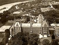 historical aerial photograph Georgetown University, Washington, DC, 1931