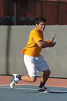 SAN ANTONIO, TX - MARCH 5, 2007: The East Tennessee State University Buccaneers vs. The University of Texas at San Antonio Roadrunners Men's Tennis at the UTSA Tennis Center. (Photo by Jeff Huehn)