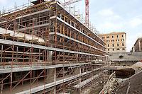 Rome March 5 2007  .Construction of new market in Via Andrea Doria..RomaA 5 Marzo 2007.Il cantiere del nuovo mercato in Via Andrea Doria .
