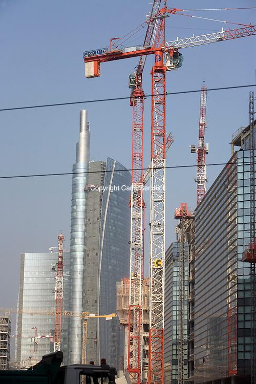 View of building yard of porta nuova project milan - Uffici gtt porta nuova ...