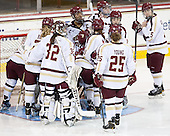 - The Boston College Eagles defeated the visiting Cornell University Big Red 4-3 (OT) on Sunday, January 11, 2012, at Kelley Rink in Conte Forum in Chestnut Hill, Massachusetts.
